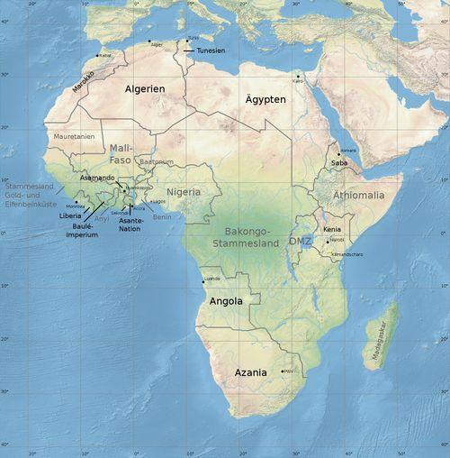 Afrika Karte Staaten.Afrika Die Shadowhelix Das Deutsche Shadowrun Wiki
